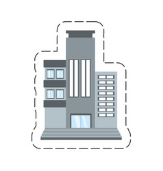 cartoon building living place vector image