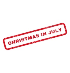 Christmas in july text rubber stamp vector