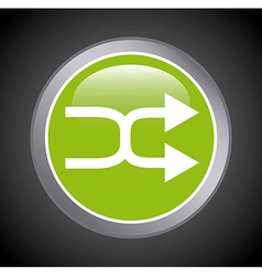 computer button design vector image