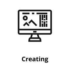 creating thin line icon vector image vector image