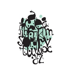 Decorative alphabet of ink droplets vector image vector image