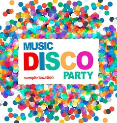 Disco party poster vector image vector image