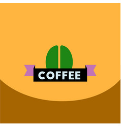 Flat icon design collection sign of coffee beans vector