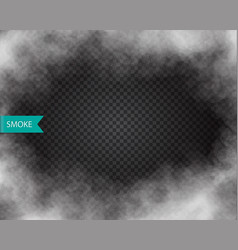 Fog or smoke isolated transparent effect vector