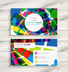 Funky business card vector