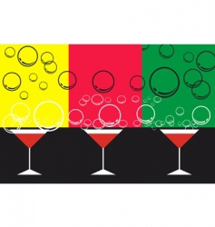 goblet and bubbles vector image vector image