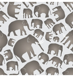 Gray elephants simple seamless pattern eps10 vector