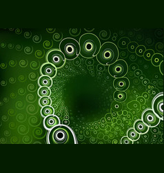 green background with spiral pattern vector image