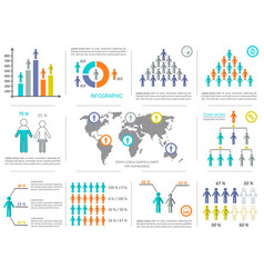 Infographic design elements demographic vector