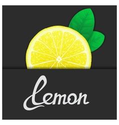 Just of lemon vector
