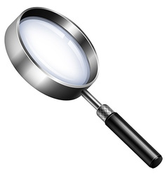 Magnifying glass on white vector image vector image