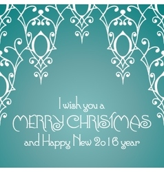 Merry Christmas lettering Congratulations card vector image