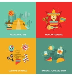 Mexican Icons Set vector image