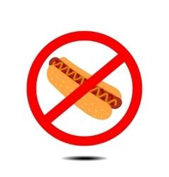 no hot dog vector image vector image