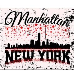 NYC t-shirt skyline vector image vector image