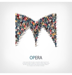 Opera people sign 3d vector
