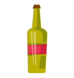 red wine bottle cartoon vector image