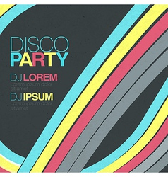 Retro disco background vector