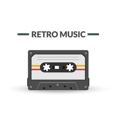retro music magnetic audio tape vector image vector image