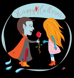 romantic halloween vector image