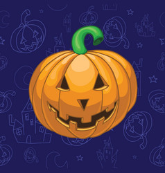 seamless halloween background vector image