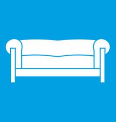 Sofa icon white vector