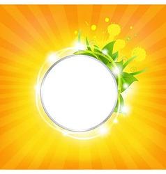 Sunburst Background With Stars vector image