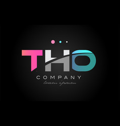 tho t h o three letter logo icon design vector image