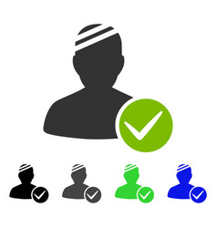 Valid patient flat icon vector