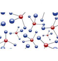 vector molecular pattern vector image vector image