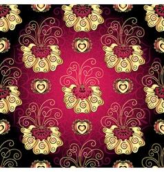 Vintage dark purple seamless pattern vector image vector image