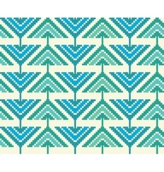 Vintage seamless pattern with triangles and pixels vector image vector image
