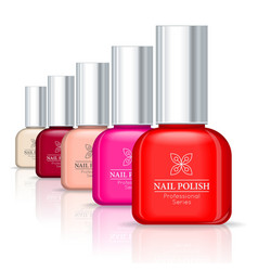 Nail polish professional series vector
