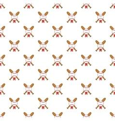 Crossed baseball bats pattern cartoon style vector image