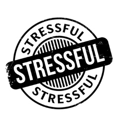Stressful rubber stamp vector