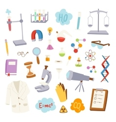 Science lab icons vector