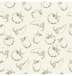 Vegetable pattern - beige vector
