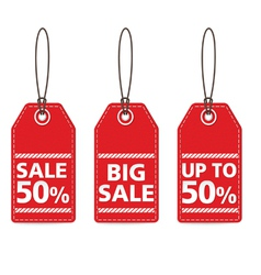 Red tag sale vector