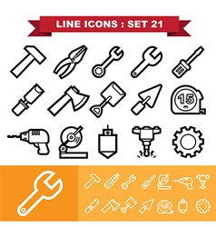 Line icons set 21 vector