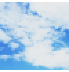Pixel art sky photorealistic background vector