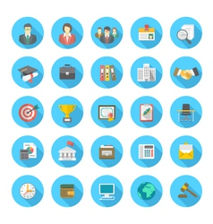 Round flat resume icons vector