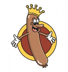 king of the wieners vector image