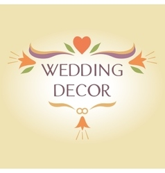 Organization of weddings decor floral interior vector