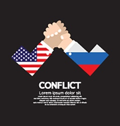 Usa vs russia arm-wrestle vector