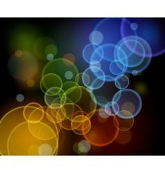 Abstract night lights - highway vector