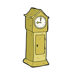 Comic cartoon grandfather clock vector
