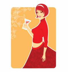 red girl vector image