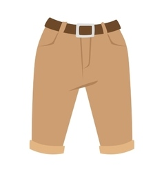 Brown shorts silhouettes on white casual vector