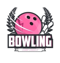 Bowling logo design template emblem tournament vector