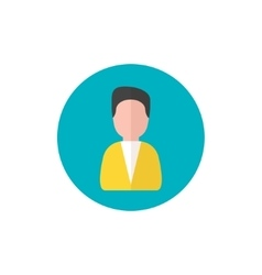 Man Icon Manager symbol in flat style - round vector image